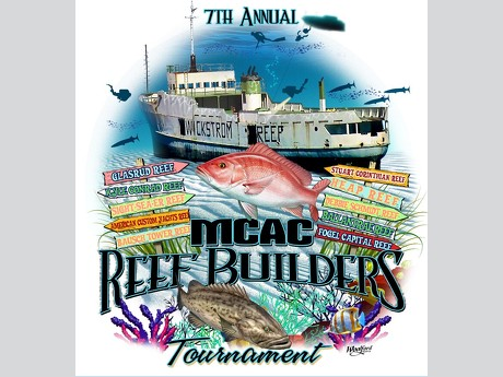 Mcac artificial reef fund naming your own artificial reef for Fishing sponsor shirts